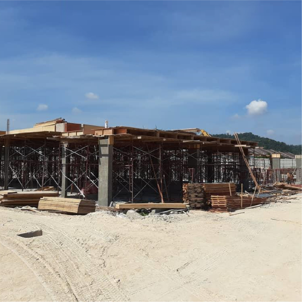 Block 3 – 1st floor slab ready for casting