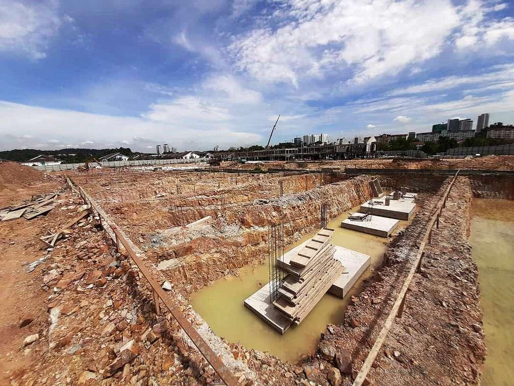 BLOCK 10 – FOOTING CONSTRUCTION IN PROGRESS