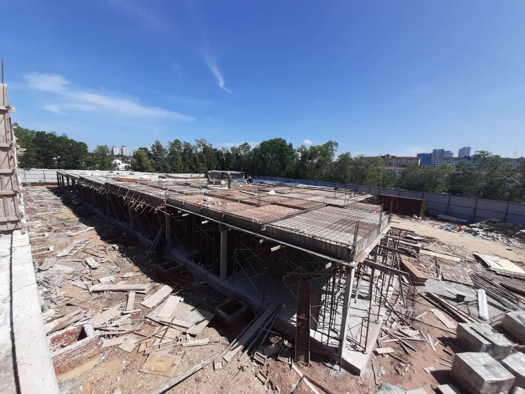 Block 1 - 1st floor slab construction in progress