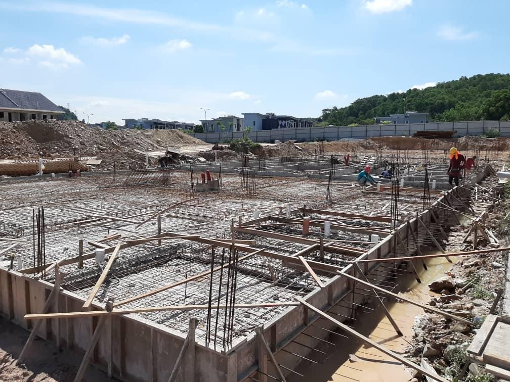 Block 10 - Ground slab construction in progress