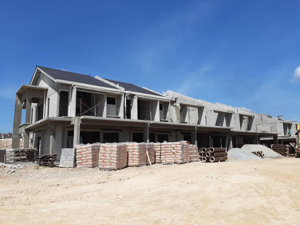 Block 3 - Roof tile in progress