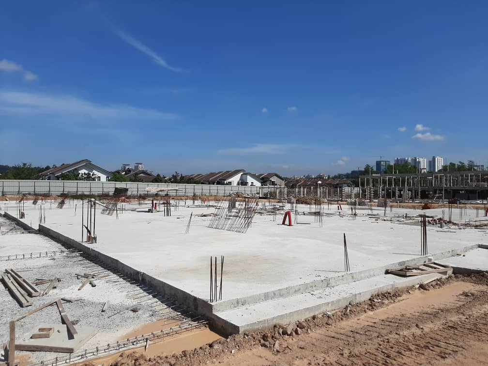 Block 9 - Ground slab completed